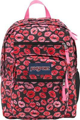 JanSport Big Student Backpack Black Kiss Me Quick - via eBags.com!