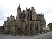 ROMÀNIC OCCITÀ - La basílica de Sant Nazari (en francès Saint-Nazaire), construïda en gres (pedra sorrenca) és una església romànica, la part més antiga de la qual es remunta al segle XI. A l'emplaçament originalment s'elevava una catedral carolíngia de la qual no queda cap vestigi   Ciutat fortificada de Carcassona