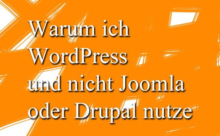 Das ist der Grund  warum ich Wordpress und nicht Joomla oder Drupal nutze.