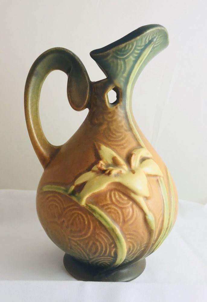 Roseville Usa Pottery Zephyr Lily Vase 22 6 Pitcher Pottery