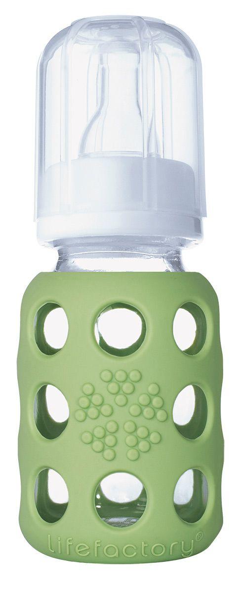 Biberon in Vetro e Silicone 120ml - Verde Chiaro