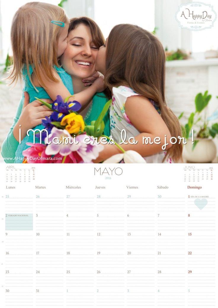 """En A Happy Day by Ofmara la planificación es fundamental en nuestro día a día y sabemos que para ti también lo es! así que os dejamos nuestro calendario mensual del mes de """"Mayo 2016"""" descargable totalmente """"Gratis"""" y listo para imprimir. Para descargarlo, sigue las siguientes instrucciones: 1. Haz clic aquí. 2. Se abrirá…"""
