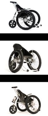 This is the wheelchair I'm really after! Just look at those chunky, rugged wheels, that shiny bucket seat...Have you ever seen such a cool set of wheels? Sigh!