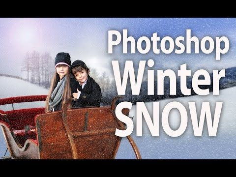 How To Add Winter Snow In Photoshop To Portrait In Minutes - YouTube