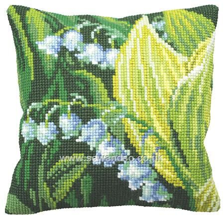 Buy Muguet Droite Cushion Front Chunky Cross Stitch Kit Online at www.sewandso.co.uk