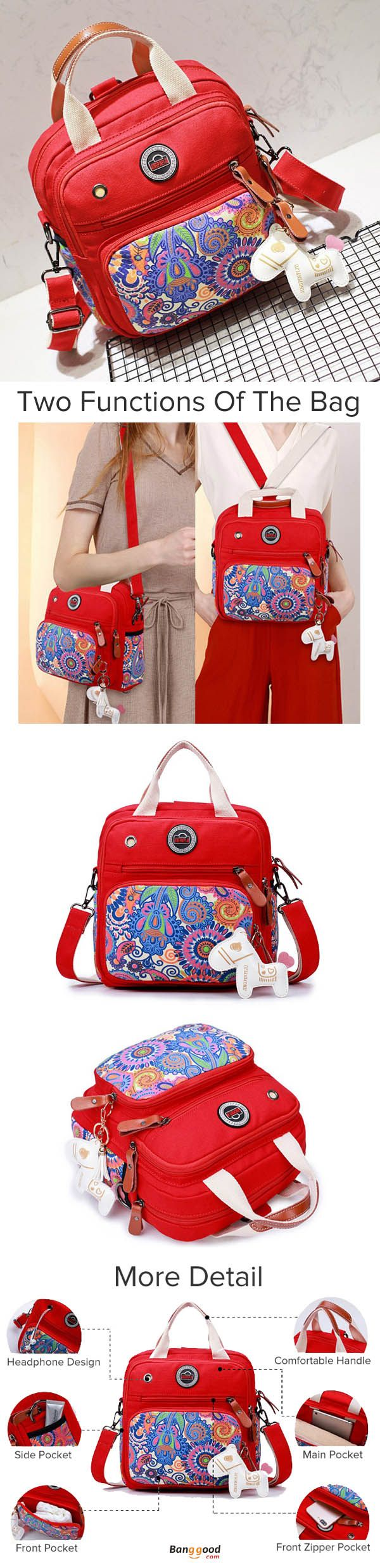 US$26.17+Free shipping. Women Bags, Waterproof Crossbody Bags, Casual Bags, Chest Bags, Multifunction Handbag, Backpack, Shoulder Bags. Function, Travel, Outdoor, Waterproof, Large Capacity. Color: Black, Red.