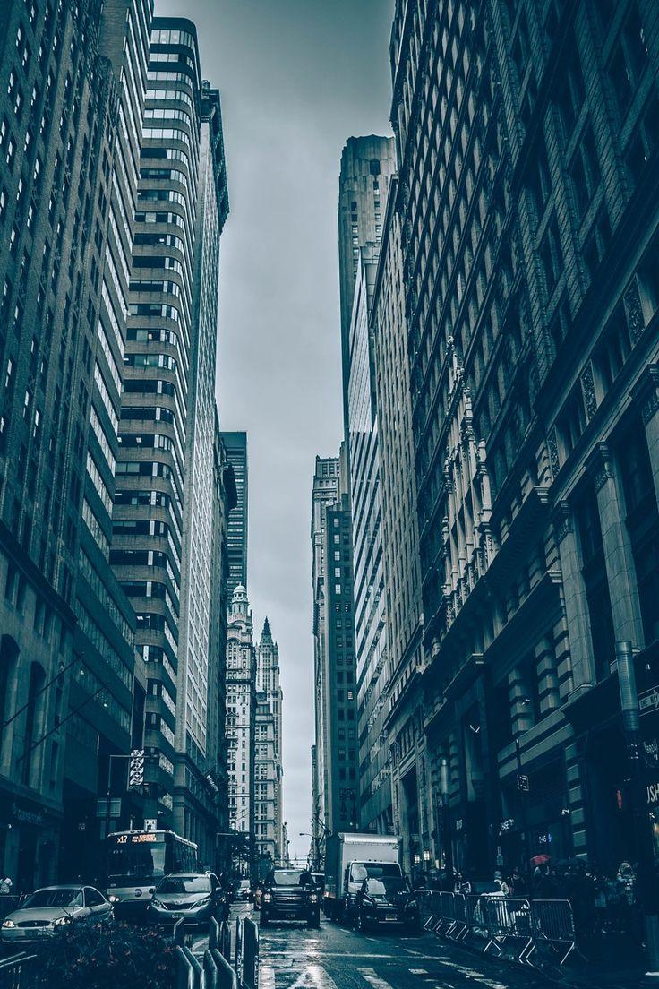 cars, city, high-rises
