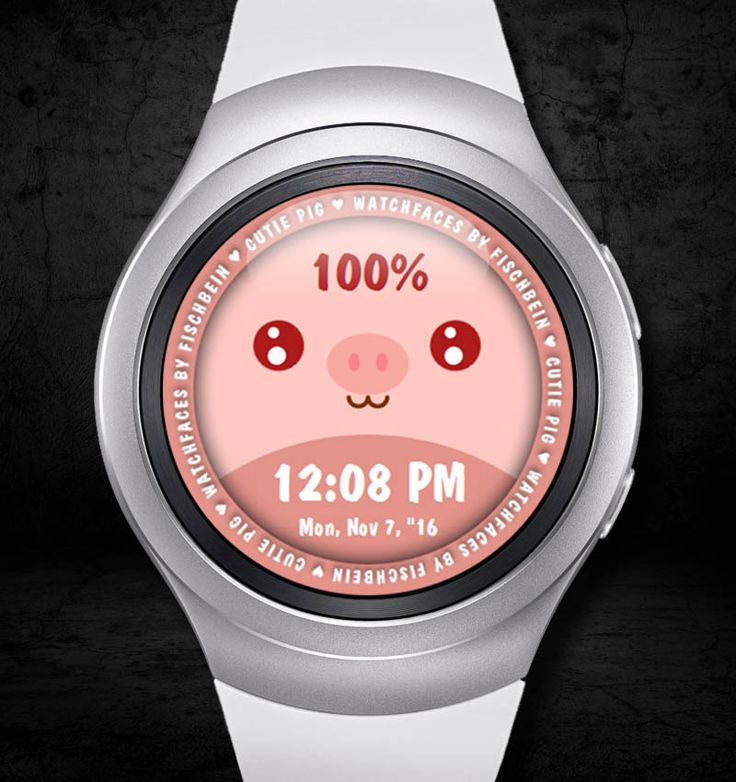Cutie Pig 12h – Watchfaces by Fischbein