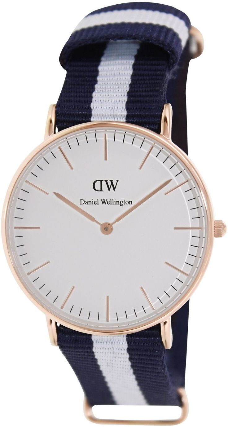 Daniel Wellington Women'S Glasgow 0503Dw Blue Nylon Quartz Watch