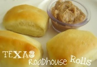 Texas Roadhouse Rolls and Honey Butter Recipe...Bisquick, sour cream, 7up and butter!.... These are excellent!!!! So easy and soooo good! Will be making these from now on! Recipe is hard to get to. here it is: 7 Up Biscuits 4 cups Bisquick 1 cup sour cream 1 cup 7-up 1/2 cup melted butter mix bisque, sour cream and 7 up. melt butter in pan, and put shaped biscuits in, then Bake at 425 until golden