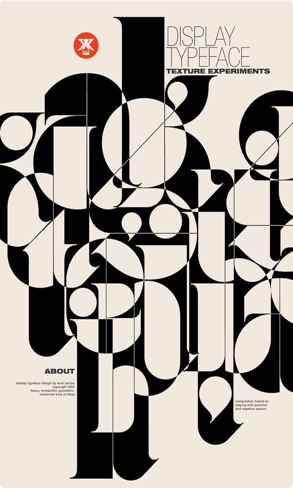 Typographic posters by Áron Jancsó and others