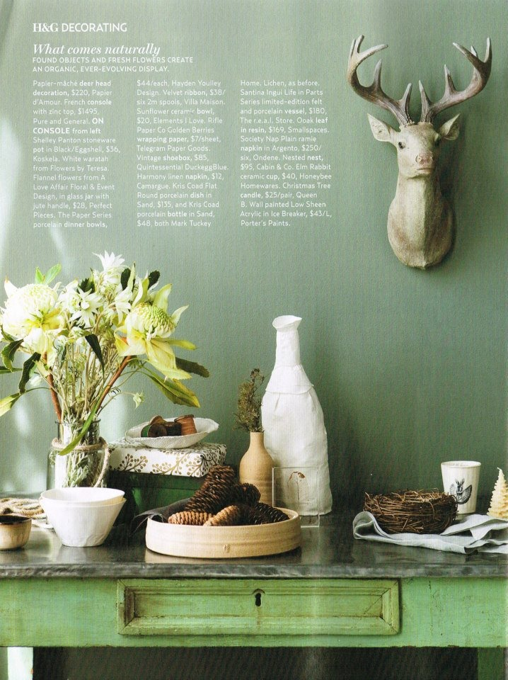 Paper Series Bowl featured in Australian House & Garden, 2012