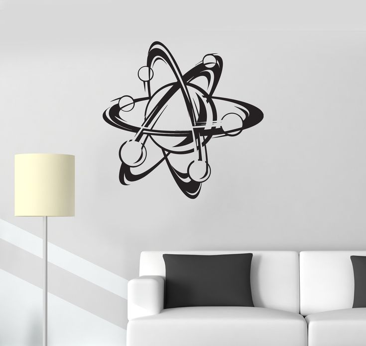 Vinyl Decal Atom Science Chemistry School Physics Wall Stickers Unique Gift (ig2769)