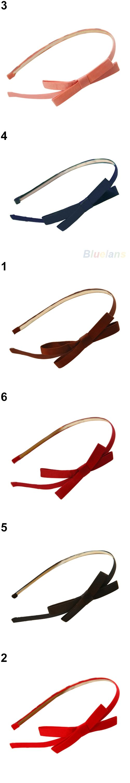 Hot Sweet Cute Fashion Korea Style Bowknot Hair Band Bow Tie Headband Hairwear 5BT7 7GOR