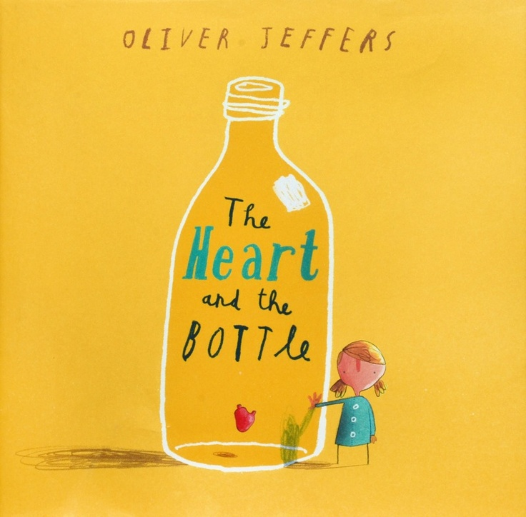 Heart and the bottle by Oliver Jeffries. Themes: loss, family, sadness, love. Age: 7+ Blurb: Once there was a girl who was full of wonderment at how the world worked. She shared all her dreams and excitement with her father, who always had the answer to every question. That is until one day when his chair was empty, not to be filled again – how would she find the meaning of life now? Recommended by Alexia Tucker.