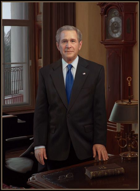 President george w bush painting by mark carder oil for George bush painting