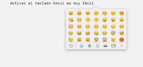Cómo activar el teclado Emoji (emoticonos) en Mac