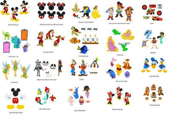 Disney Button Sets - Choice of Sets - Mickey, Minnie, Donald, Goofy, Frozen, Nemo,