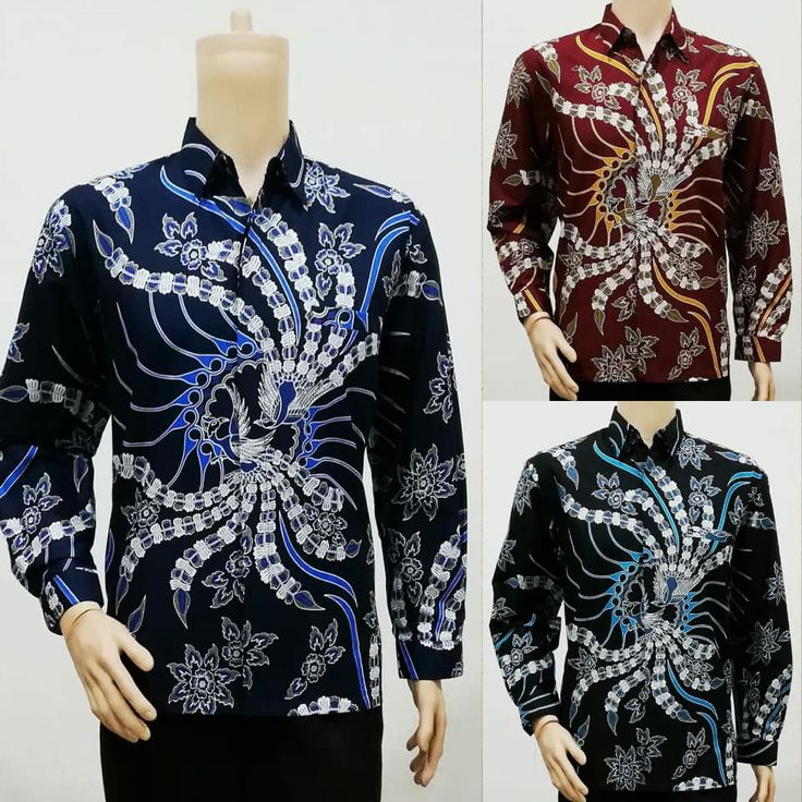 Baju Batik Pria Lengan Panjang Pola Garuda Pria, Cocok