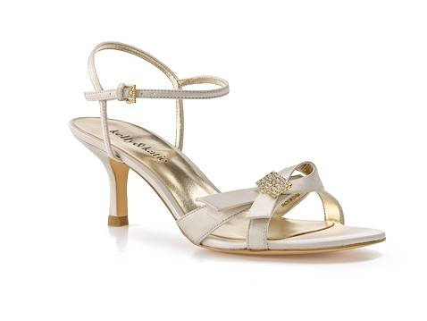 Dressy low heeled champagne colored shoes