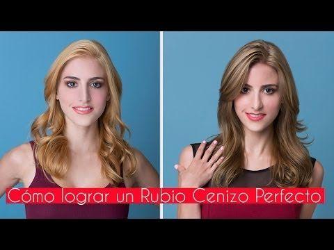 """Como pintar tu cabello de """"Rubio Dorado a Rubio Cenizo"""" (paso a paso) - YouTube"""
