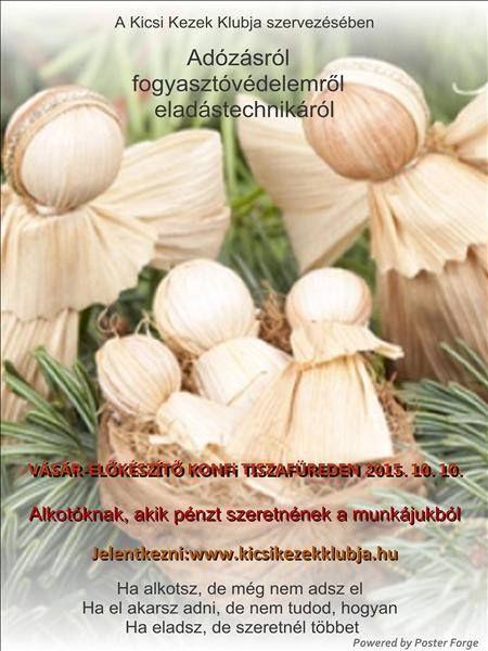 Amatőr és adószámos kézműveseknek megtartott Konferencia plakátja.