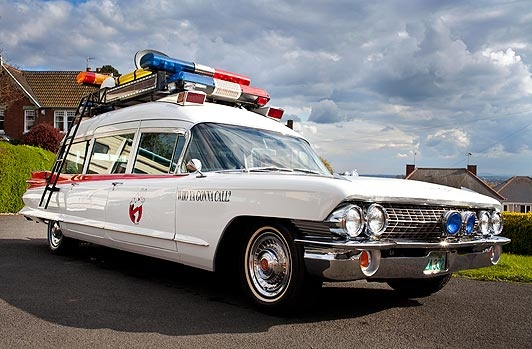 A Ghostbusters super fan spent £50,000 transforming a Cadillac into a lookalike of the iconic Ecto 1!