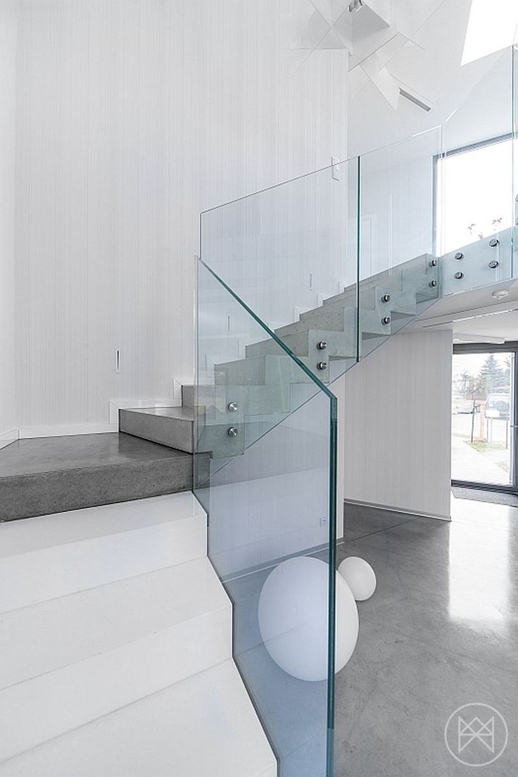 home interior design stairs%0A White  u     Aqua In Poland  D   House by Widawscy Studio Architecture   StudiosArchitectureHousesInterior DesignStaircase