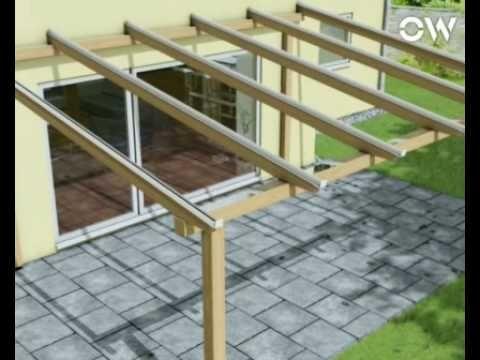 Kunststoff Terassen Überdachung bauen   www.selber-bauen.de