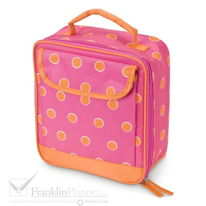 Turn heads in the cafeteria with this fully lined and insulated lunch tote.