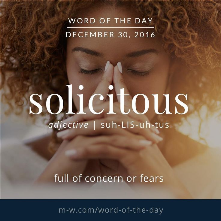 solicitous. #merriamwebster #dictionary #language