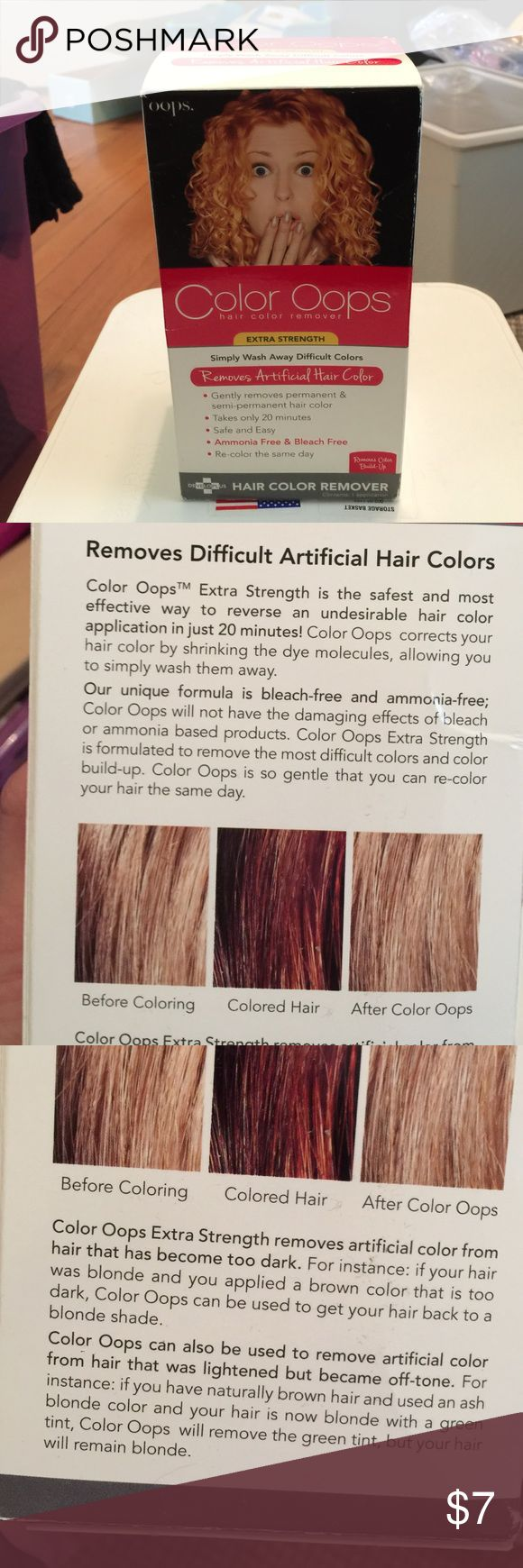 Color Oops Hair Color Remover As stated...I decided to hire someone to fix my hair instead! Box never opened. Makeup