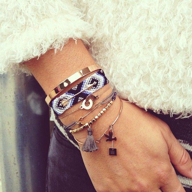 Tendance Bracelets  Multiple bracelets Brazilian bracelets  Tendance & idée…