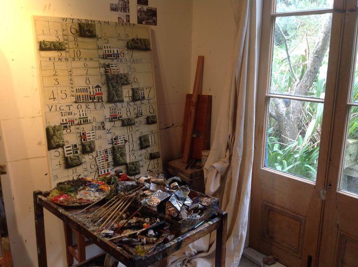 Mark Wooller's Studio, July 2015. Www.markwooller.com