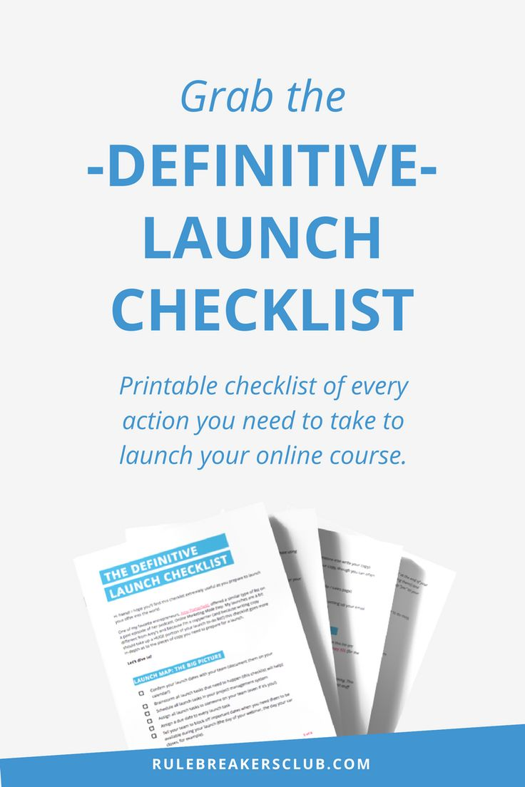 There are SO many benefits to launching a digital program. However, launching your first online course can be overwhelming. How do you know where to start? The way I see it, there are 8 basic steps. And you can download my Definitive Launch Checklist