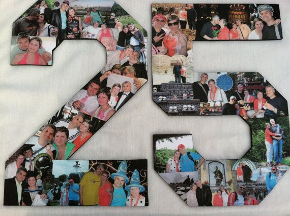 Custom Alphabet Collage Numbers For Any Birthday Wedding Anniversary On Etsy 19995