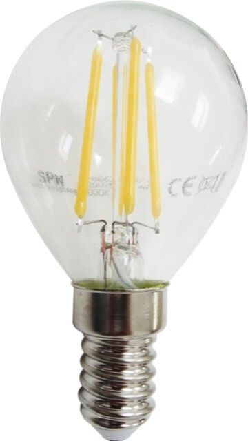 Potrivit pentru orice corp de iluminat E14, BECUL LED FILAMENT E14 4W G45 ALB CALD imprastie o lumina calda prietenoasa prin dispersorul de sticla transparenta cu un unghi de 360 grade. Consumul mic si durata mare de viata il recomanda.