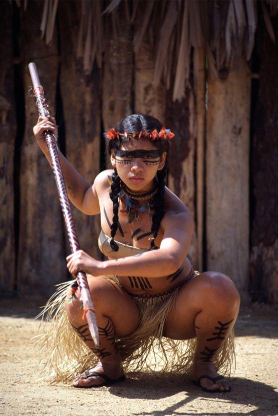Povo Nativo - Amazônia, Brasil.