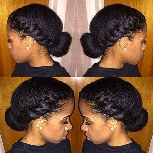 Quick and easy protective style! Products used: Argan Oil Eco Styler gel, Shea moisture curl enhancing smoothie, water, sock bun, and denman brush