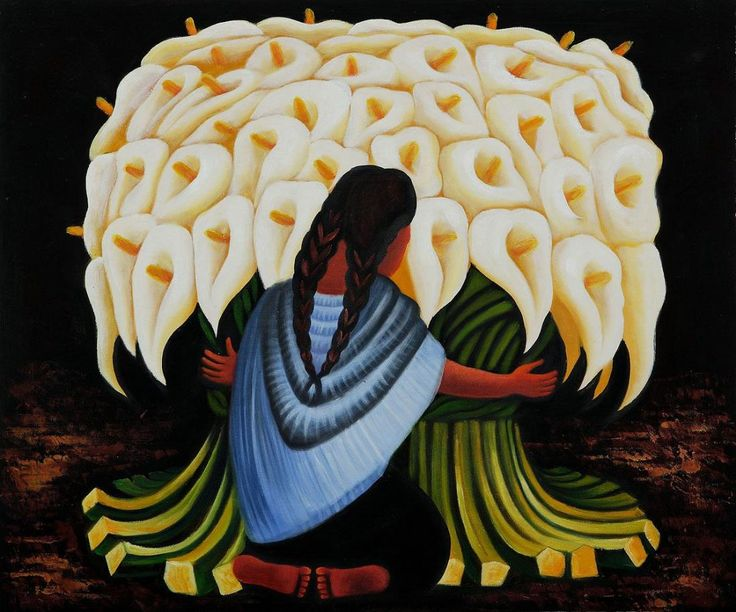 Diego rivera flower seller google search art for Diego rivera mural paintings