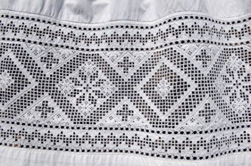 Hardanger embroidery.  More info and further links: http://www.vettycreations.com.au/hardanger.html