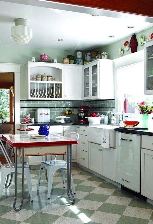 28 chic small retro kitchen interior design ideas   decoration ideas