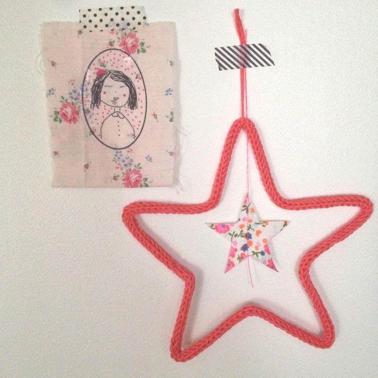 étoile en laine au tricotin : Décorations murales par o-si-chou