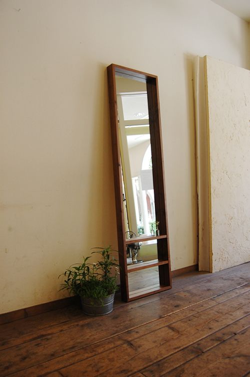Box Mirror in Walnut