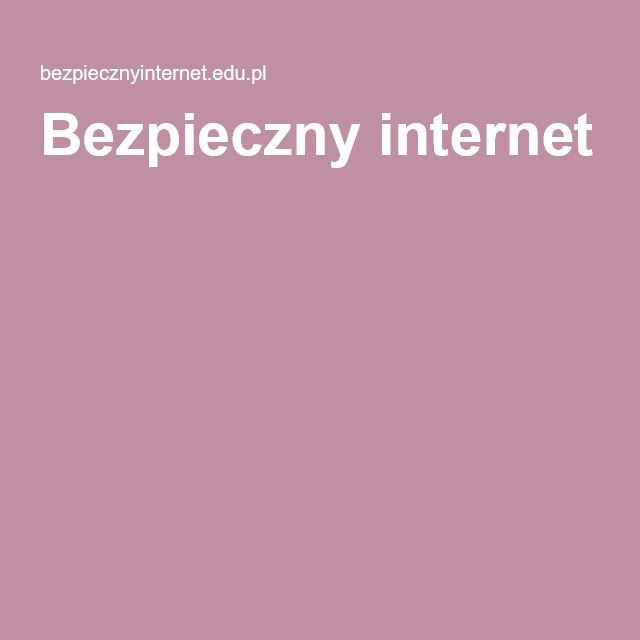 Bezpieczny internet