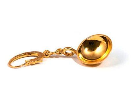 Appenzeller Ohrschaufel Silber-vergoldet -Detail