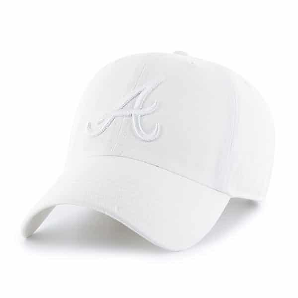 Atlanta Braves 47 Brand All White Clean Up Adjustable Hat Detroit Game Gear Atlanta Braves Hat Atlanta Braves Detroit Game