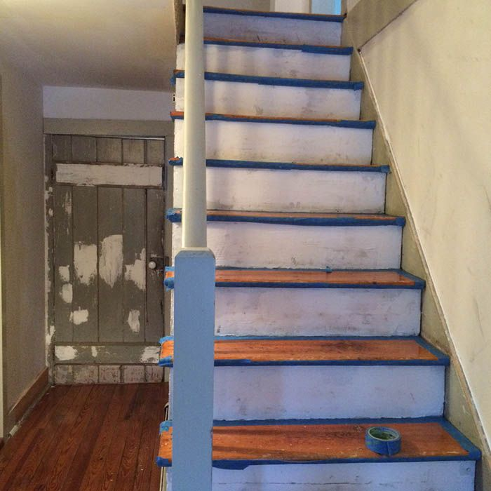 Nossa reforma da escada DIY: Paint + Runner   – Remodel