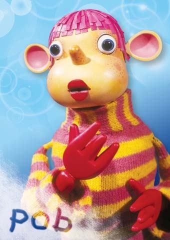 Pob- the most annoying kids TV ever, but the only kids show on TV on a Sunday!