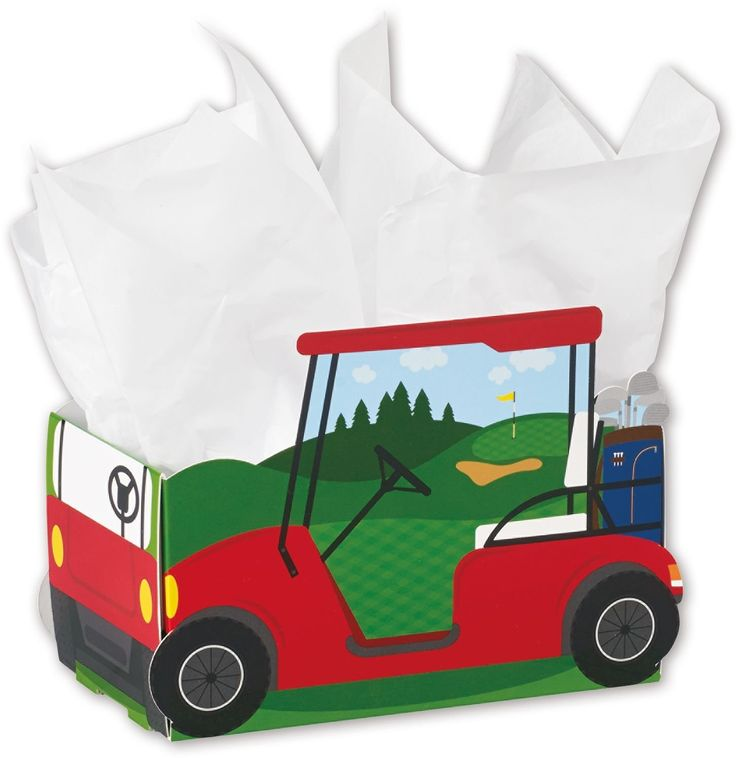 Patterned Specialty and Event Boxes - Golf Cart Intricut Basket Boxes, 10 3/4 x 6 x 7 1/2' (6 Boxes) - BOWS-INTRLG-GOLF -- You can find more details by visiting the image link.
